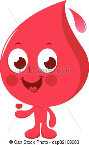 Blood clipart cute Of  character csp32108663 illustration