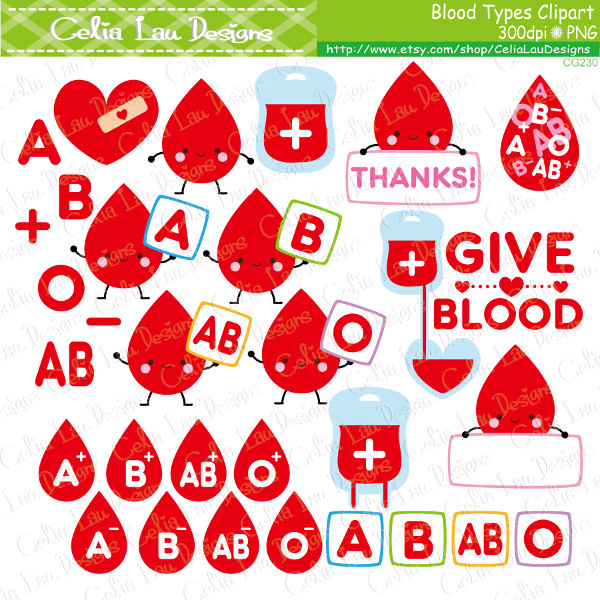 Blood clipart cute From Etsy clipart type Cartoon