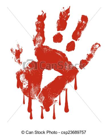 Blood clipart pivot Csp23689757 of Hand Blood Dripping