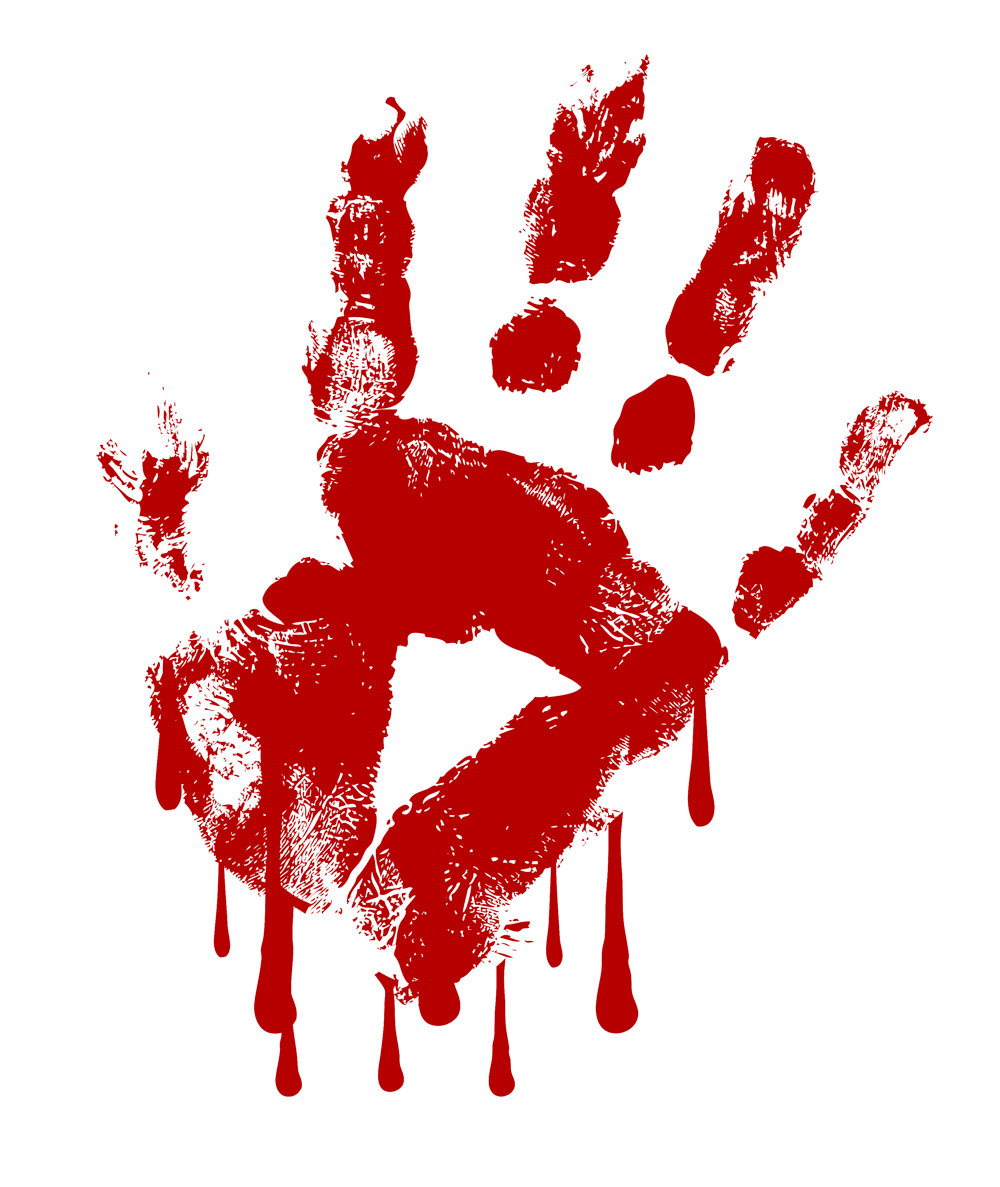 Blood clipart handprint Png print 55a2r7 clipart Gallery