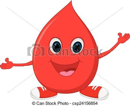 Blood clipart happy Vector of of Illustration cartoon