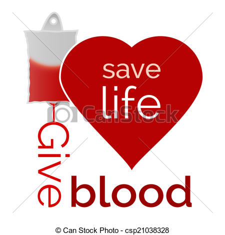 Blood clipart is life HELP; Give Save  Vector