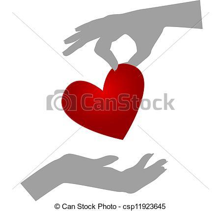Blood clipart organ donation Organ  Vector hands giving