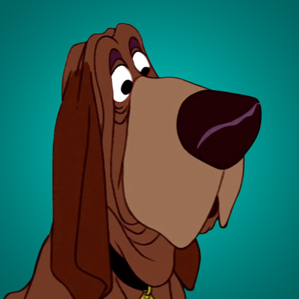 Bloodhound clipart lab dog Tramp Characters Lady Movies Disney