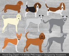 Bloodhound clipart labrador Basset Digital Beagle Afghan Graphics