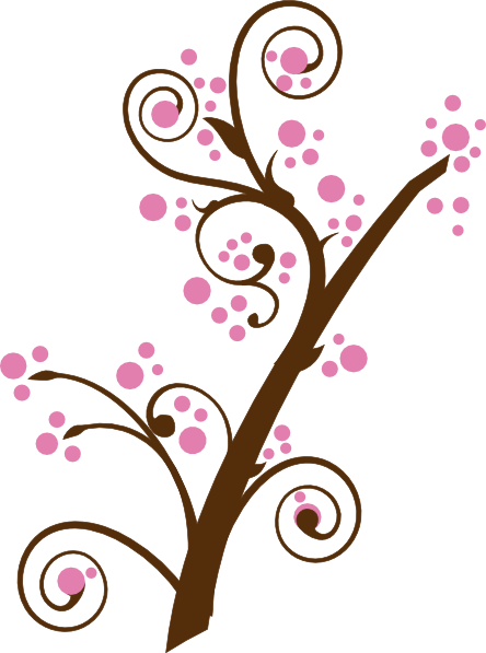 Blossom clipart black cherry Free Brown Bloom Clipart Panda