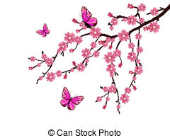 Cherry Blossom clipart 8 cherry Illustrations a Stock