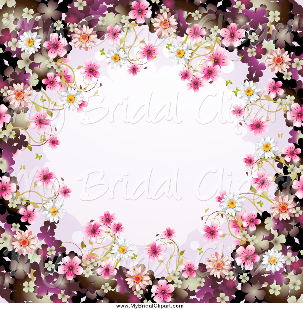 Blossom clipart frame Free Royalty Bridal Designs Stock