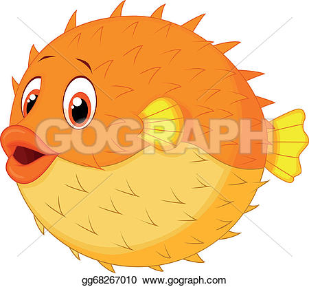 Blowfish clipart green Puffer Blowfish cartoon Cute Free