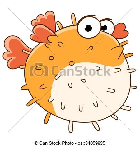 Blowfish clipart cute Cute is blowfish lonely swimming