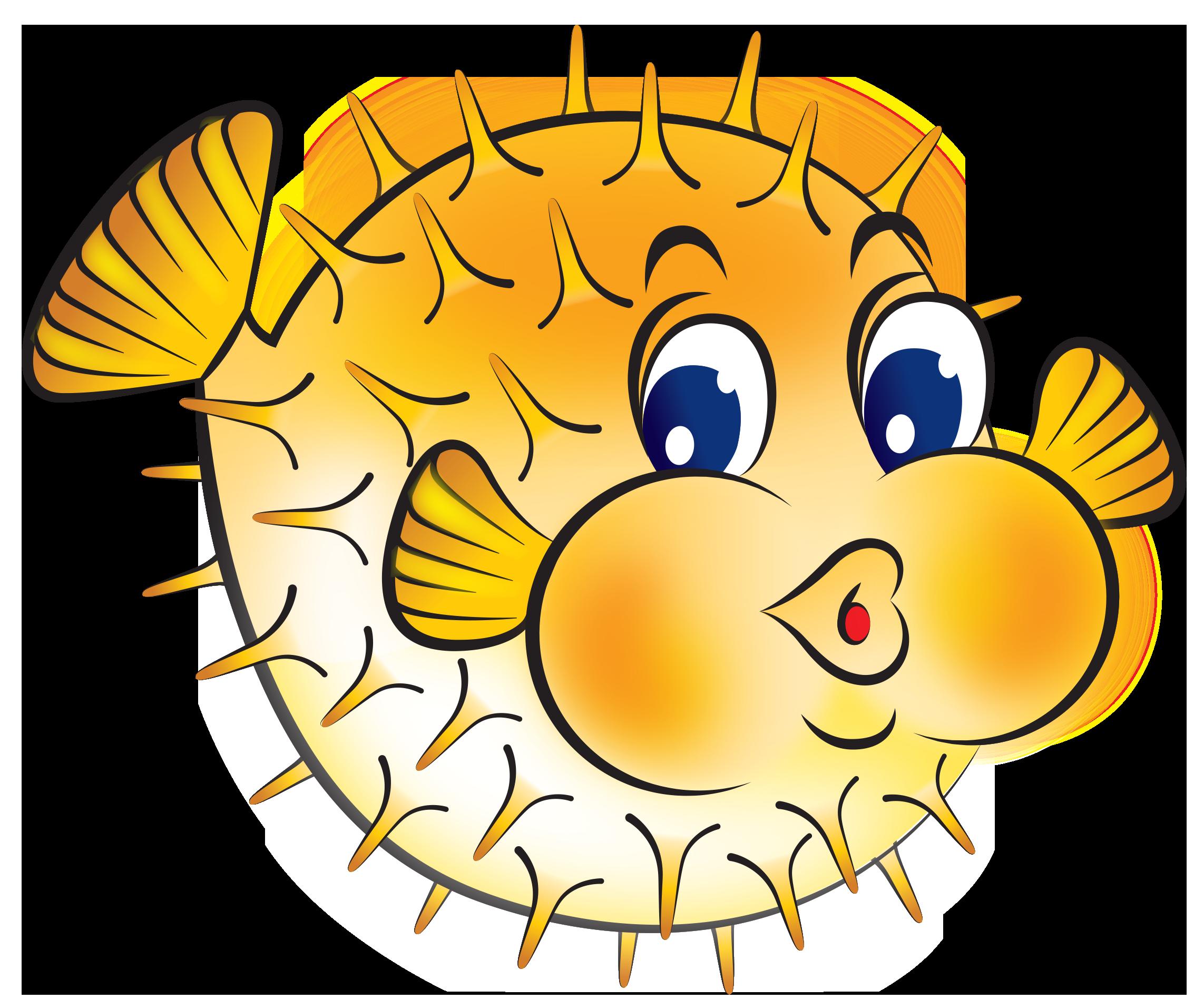 Blowfish clipart cute Best Cartoon Art Puffer Car