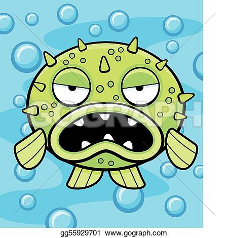 Blowfish clipart green Cartoon Clip Art an Stock