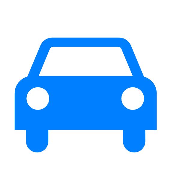 Blue Car clipart #7