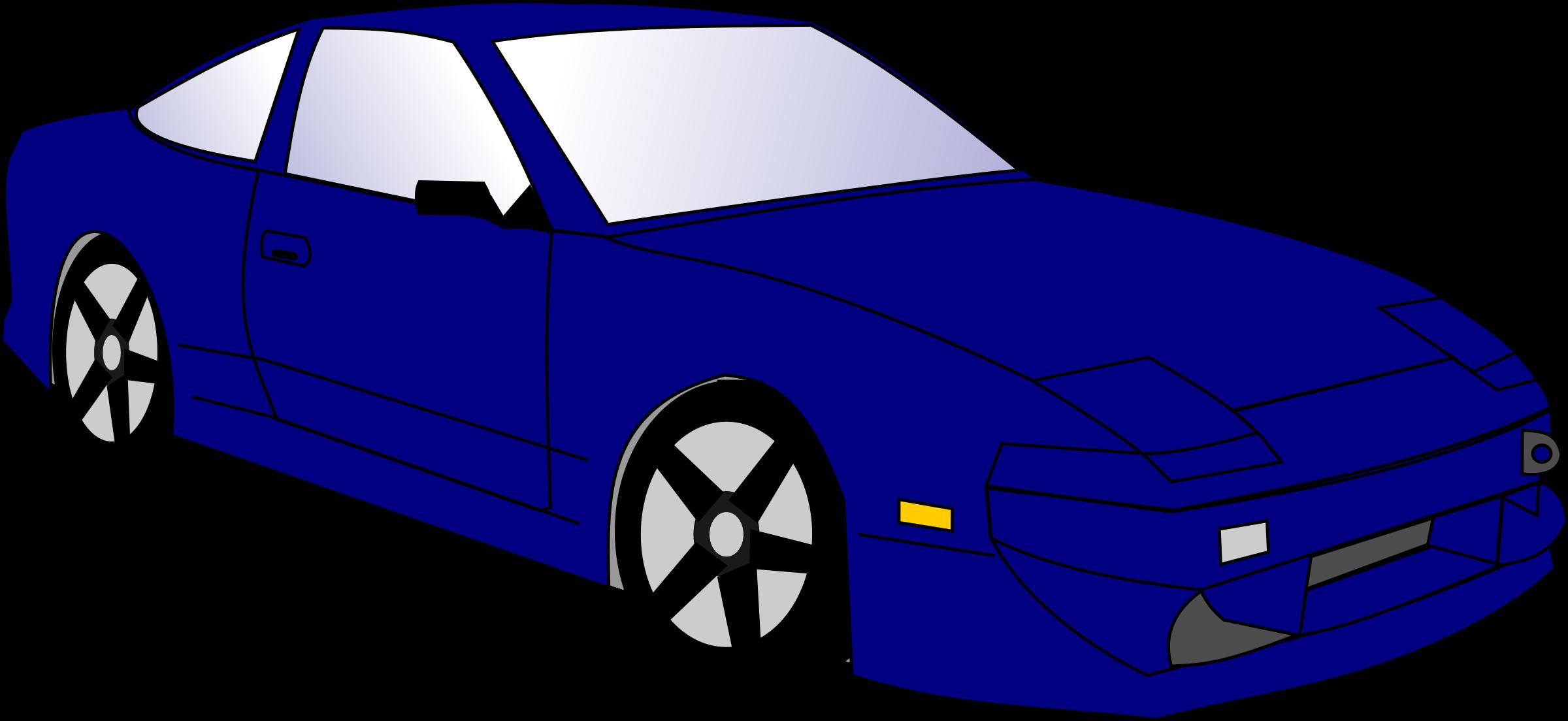 Blue Car clipart #2
