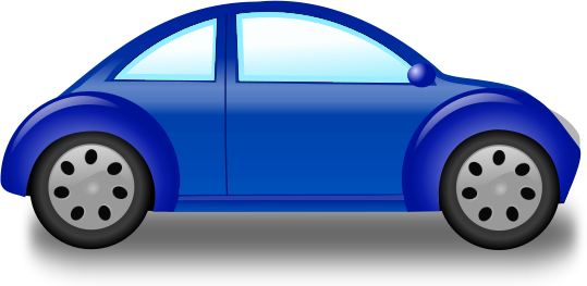 Blue Car clipart #4