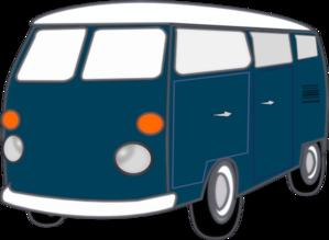 Blue Car clipart blue van Old  Art Clip Clker
