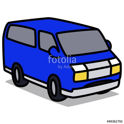 Blue Car clipart blue van Car vector : : Van
