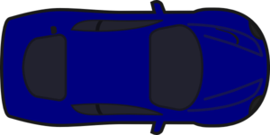 Blue Car clipart car aerial view Collection above from Red Car