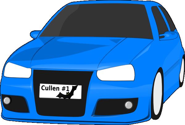 Blue Car clipart car light Com Art at online Clker