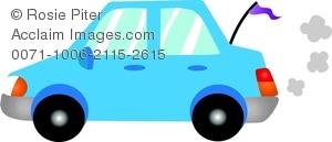 Blue Car clipart car smoke Car Blue a Image Blue