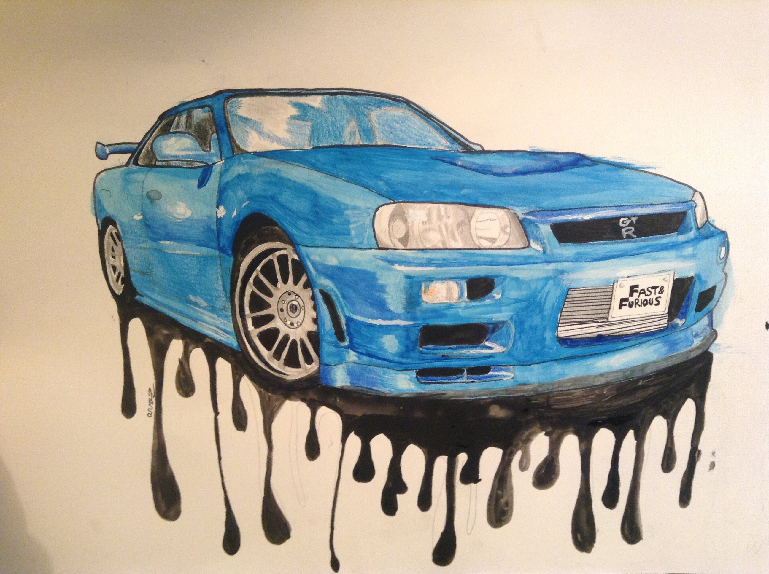 Blue Car clipart fast and furious  R Walker's Paul YouTube