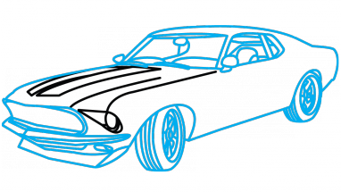 Blue Car clipart vector How Car by Mustang to