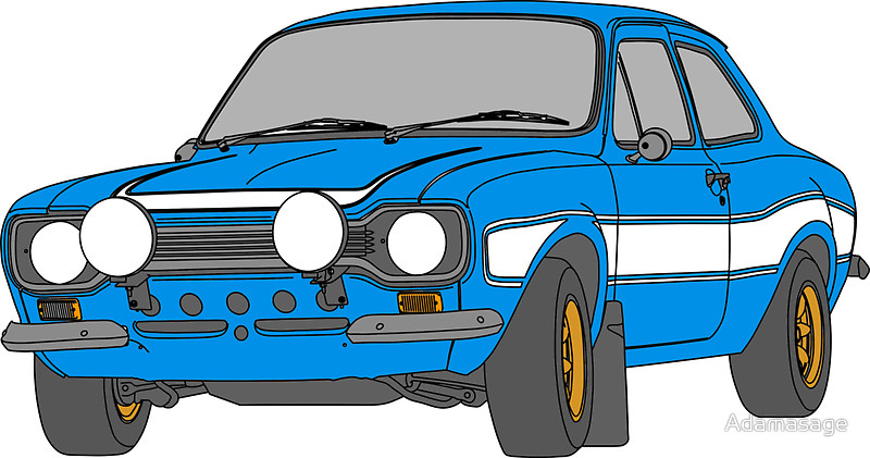 Blue Car clipart fast and furious By  Outline 1970 car