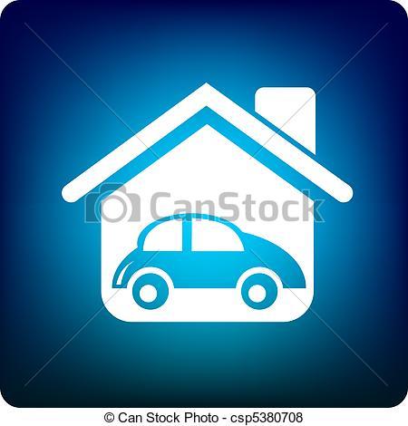 Blue Car clipart house car House Art  House of