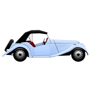 Blue Car clipart side view png PNG Vintage Timer car Blue