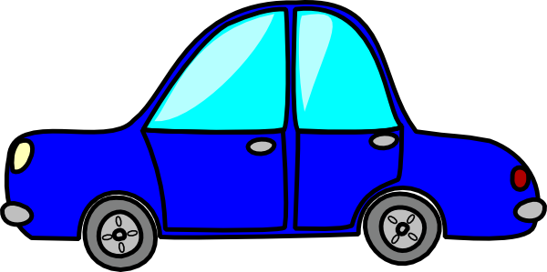 Blue Car clipart side view png View Car side clipart side