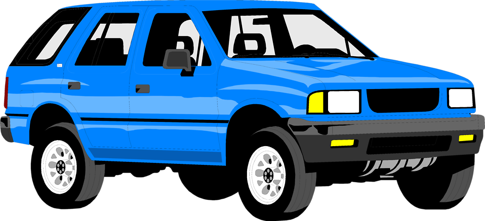 Blue Car clipart vector Free utility Stock of Stock