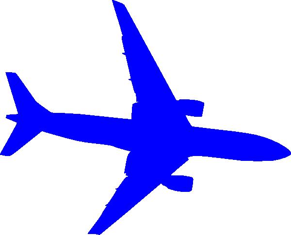 Aircraft clipart blue airplane #2