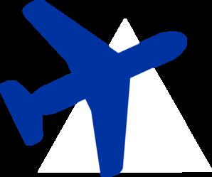 Aircraft clipart blue airplane #5