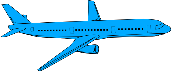 Aircraft clipart blue airplane #1
