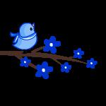 Bluebird clipart baby shower Blue art baby Art Clip