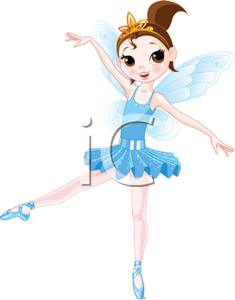 Blue clipart ballerina Clipart Fairy Ballet Blue Female