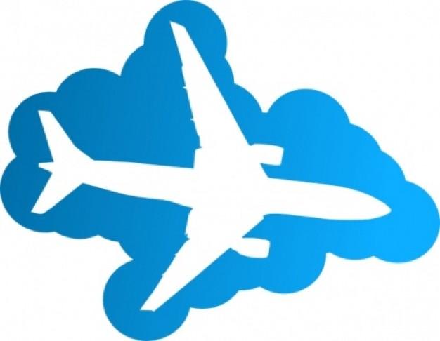 Aircraft clipart blue airplane #4