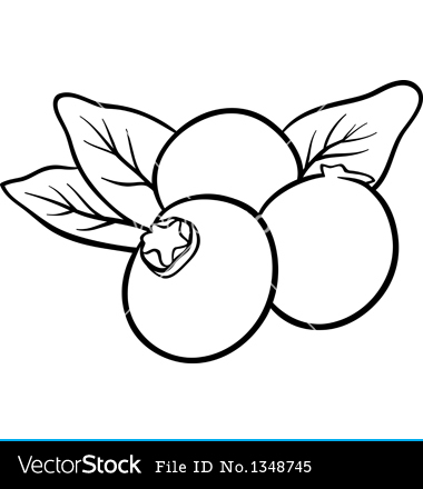 Blue clipart black and white White Black And Blueberry