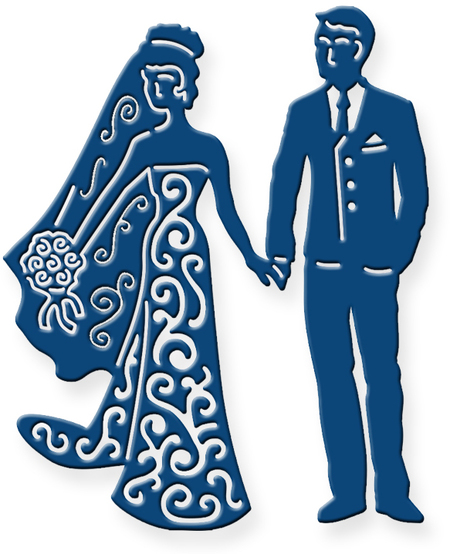Blue clipart bride and groom Groom Lace com Bride Dies