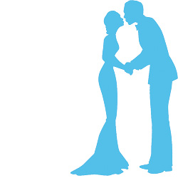 Blue clipart bride and groom Stamp Bride Groom & Rubber