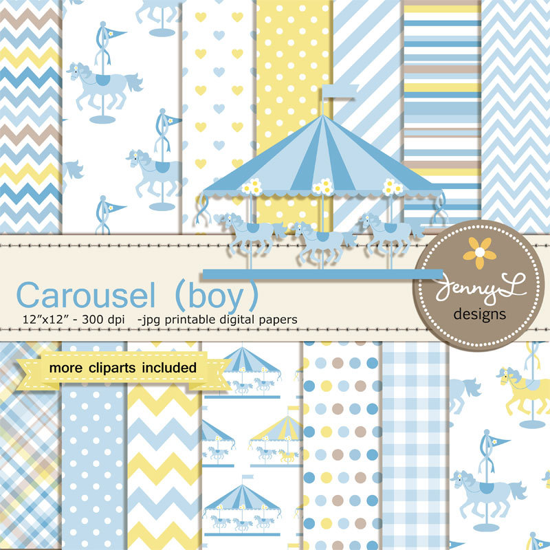 Carousel clipart ticket Clipart This is Blue Carousel