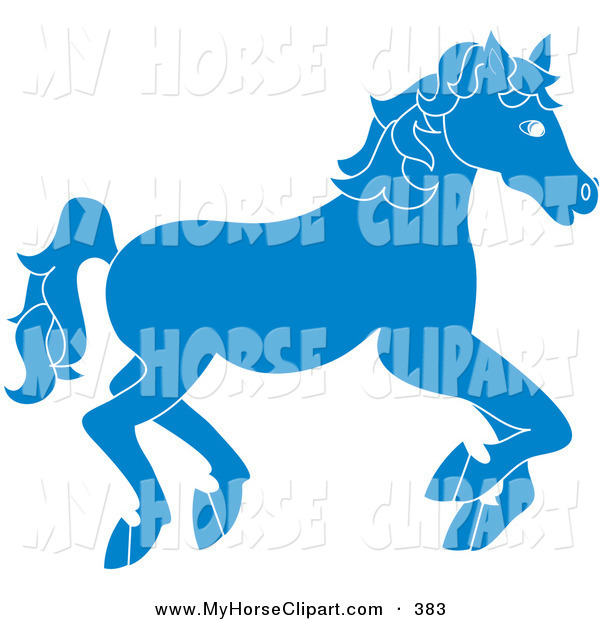 Carousel clipart blue Clip of Blue of on