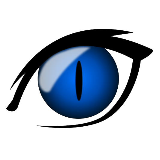 Blue clipart cat eye Png cat html anime /cartoon/anime/anime_eyes/anime_cat_eye_blue