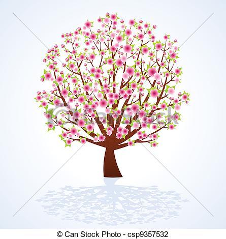 Cherry Tree clipart flowering tree Tree blossom Tree Cherry Illustration