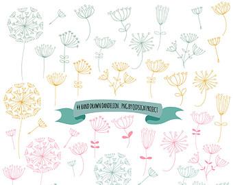 Drawn dandelion clip art #13