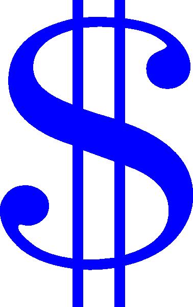 Money clipart blue Art Download Dollar as: Blue