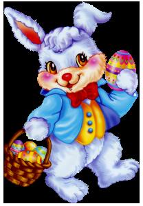 Blue clipart easter bunny Bunny  Basket Egg Easter