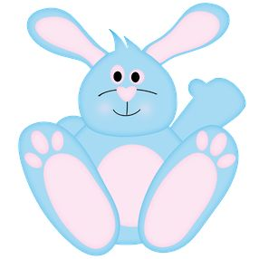 Blue clipart easter bunny ART images ART CLIP BLUE