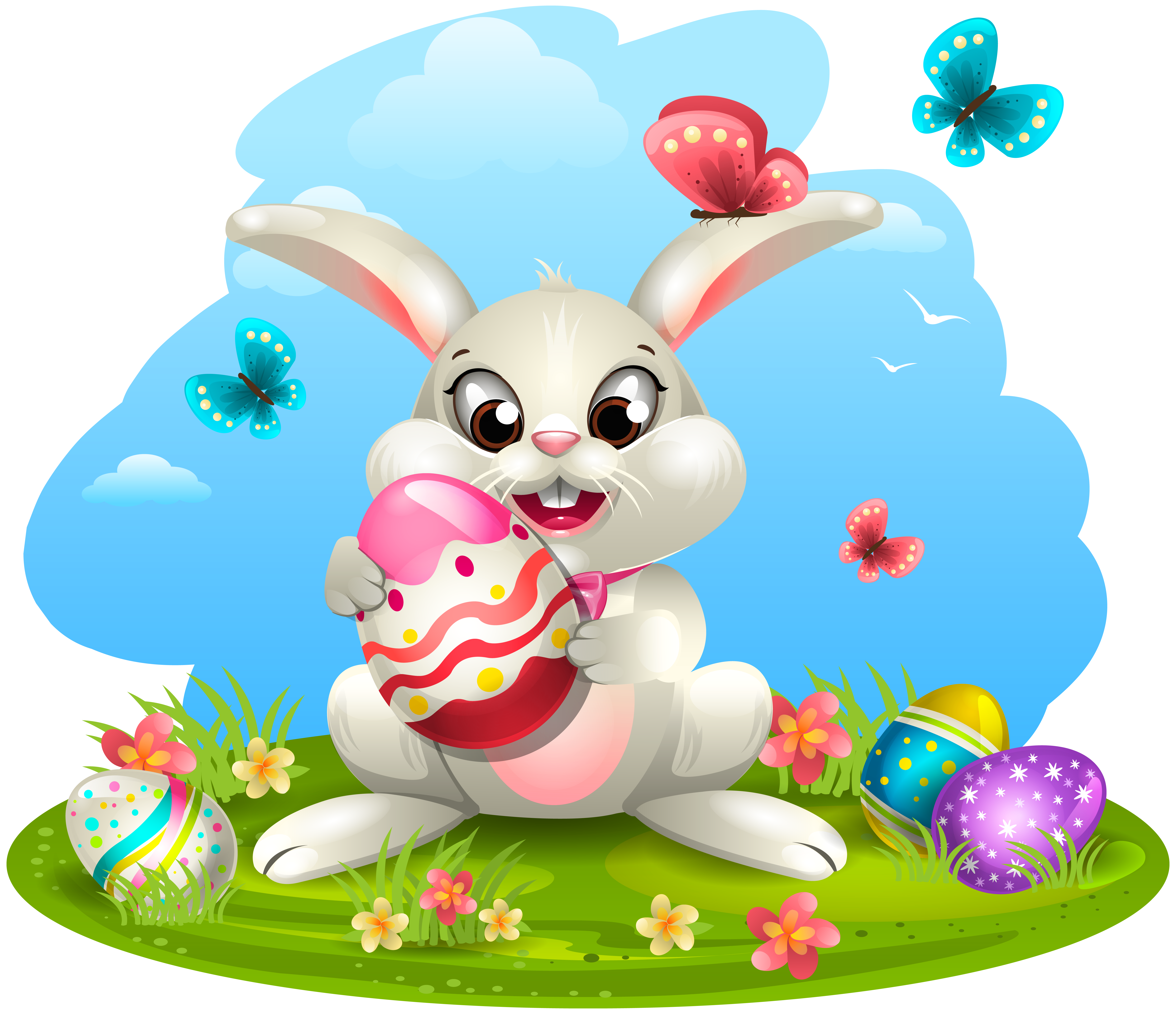 Blue clipart easter bunny PNG Gallery Easter Eggs View