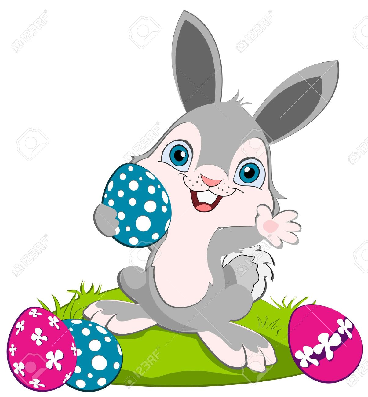 Blue clipart easter bunny Bunny Clipart Eggs Easter Easter